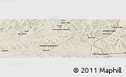 "Shaded Relief Panoramic Map of the area around 48° 5' 50"" N, 106° 19' 29"" E"