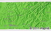 Political 3D Map of Ulaanbaatar