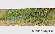 Satellite Panoramic Map of Tsagaan Güyn Den