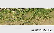 Satellite Panoramic Map of Bayagiin Dugang