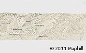 Shaded Relief Panoramic Map of Bayagiin Dugang