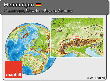 Map Of Germany Memmingen.Free Physical Location Map Of Memmingen