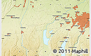 """Physical Map of the area around 48°5'50""""N,11°7'30""""E"""