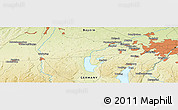 """Physical Panoramic Map of the area around 48°5'50""""N,11°7'30""""E"""