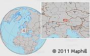 Gray Location Map of Munich
