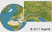 Satellite Location Map of Munich