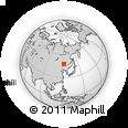 Outline Map of Zalantun, rectangular outline
