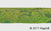 Satellite Panoramic Map of Petting