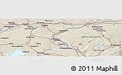 Shaded Relief Panoramic Map of Petting
