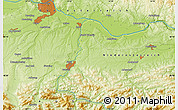 """Physical Map of the area around 48°5'50""""N,14°31'30""""E"""