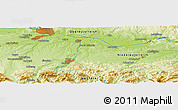 """Physical Panoramic Map of the area around 48°5'50""""N,14°31'30""""E"""