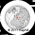 Outline Map of Vráble, rectangular outline