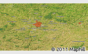 Satellite 3D Map of Rennes