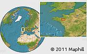 Satellite Location Map of Rennes