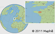 Savanna Style Location Map of Rennes