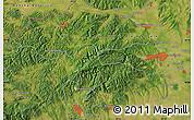 Satellite Map of Eger