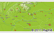 """Physical 3D Map of the area around 48°5'50""""N,21°19'30""""E"""
