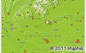 Physical Map of Nyíregyháza