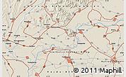 Shaded Relief Map of Nyíregyháza