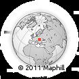 Outline Map of Nyíregyháza, rectangular outline