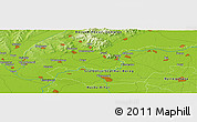 """Physical Panoramic Map of the area around 48°5'50""""N,21°19'30""""E"""