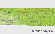 "Physical Panoramic Map of the area around 48° 5' 50"" N, 26° 25' 29"" E"