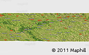"Satellite Panoramic Map of the area around 48° 5' 50"" N, 26° 25' 29"" E"