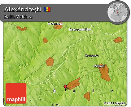 Physical Map of Alexăndreşti