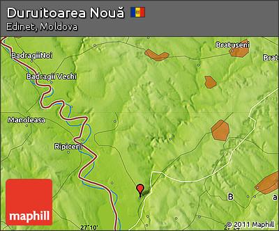 Physical Map of Duruitoarea Nouă