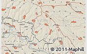 Shaded Relief Map of Cuhureştii de Sus