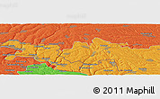 Political Panoramic Map of Camenca