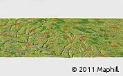 Satellite Panoramic Map of Camenca