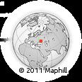 Outline Map of Donets'k, rectangular outline