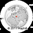 Outline Map of Krupskoi, rectangular outline