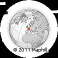 Outline Map of Sens, rectangular outline