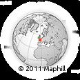 Outline Map of Cléden-Poher, rectangular outline