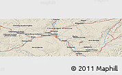 Shaded Relief Panoramic Map of Chaumont