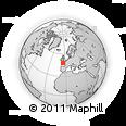 Outline Map of Camaret-sur-Mer, rectangular outline