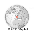 Outline Map of Vittel, rectangular outline