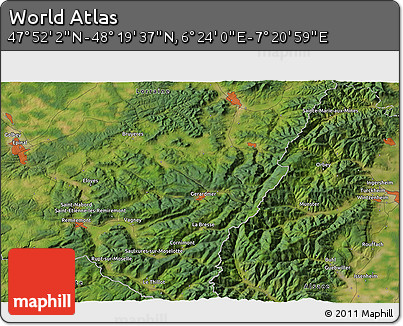 """Satellite 3D Map of the Area around 48°5'50""""N,6°52'30""""E"""