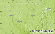 """Physical Map of the area around 48°5'50""""N,79°49'29""""W"""