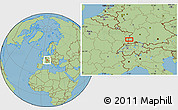 "Savanna Style Location Map of the area around 48°5'50""N,7°43'29""E"