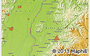 """Physical Map of the area around 48°5'50""""N,7°43'29""""E"""