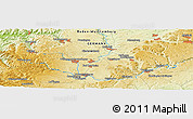 """Physical Panoramic Map of the area around 48°5'50""""N,8°34'29""""E"""