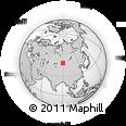 Outline Map of Bayan-Ölgii, rectangular outline