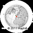 Outline Map of La Buanderie, rectangular outline