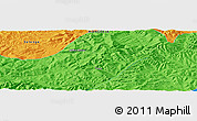 """Political Panoramic Map of the area around 48°30'27""""N,108°1'30""""E"""