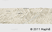 """Shaded Relief Panoramic Map of the area around 48°30'27""""N,108°1'30""""E"""