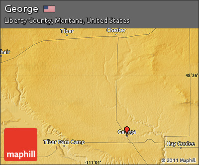 Free Physical Map Of George - Montana physical map united states