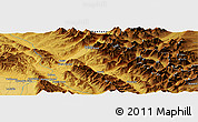 Physical Panoramic Map of South Fork